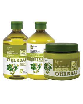 Комплект O'Herbal за къдрава и непокорна коса